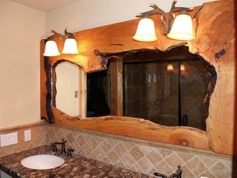 lavabos rusticos banos espejo interesante ideas