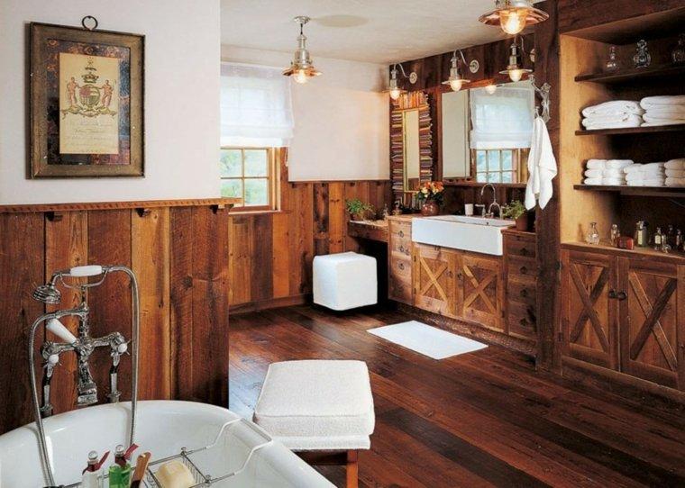 lavabos rusticos banos impresionantes bano amplio ideas