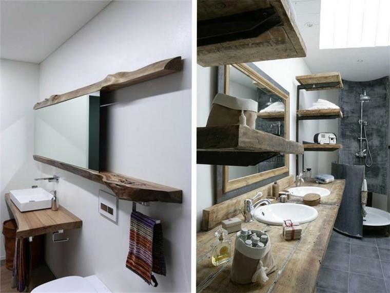lavabos rusticos banos opciones estanterias ideas