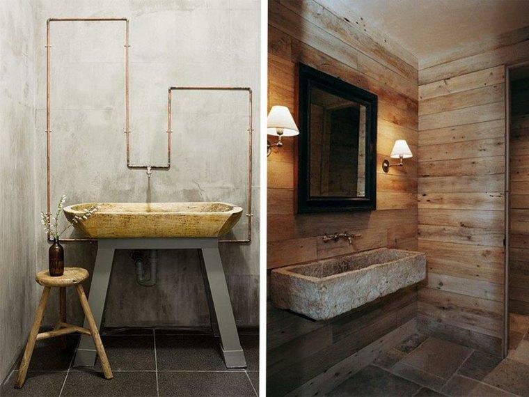 lavabos r sticos ideas para cada tipo de ba o