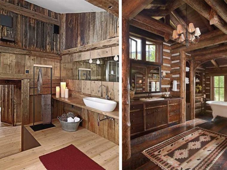 Baño Pequeno Rustico:lavabos rusticos banos velas decorativas ideas