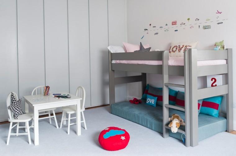litera infantil color gris