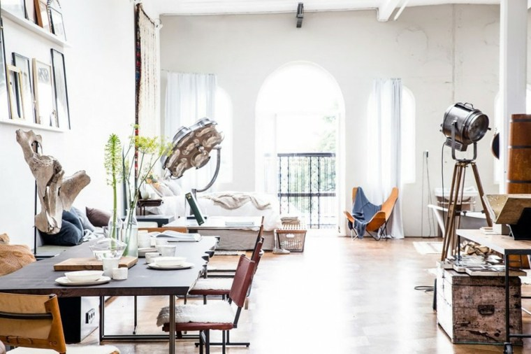 loft moderno dormitorio comedor amplio ideas