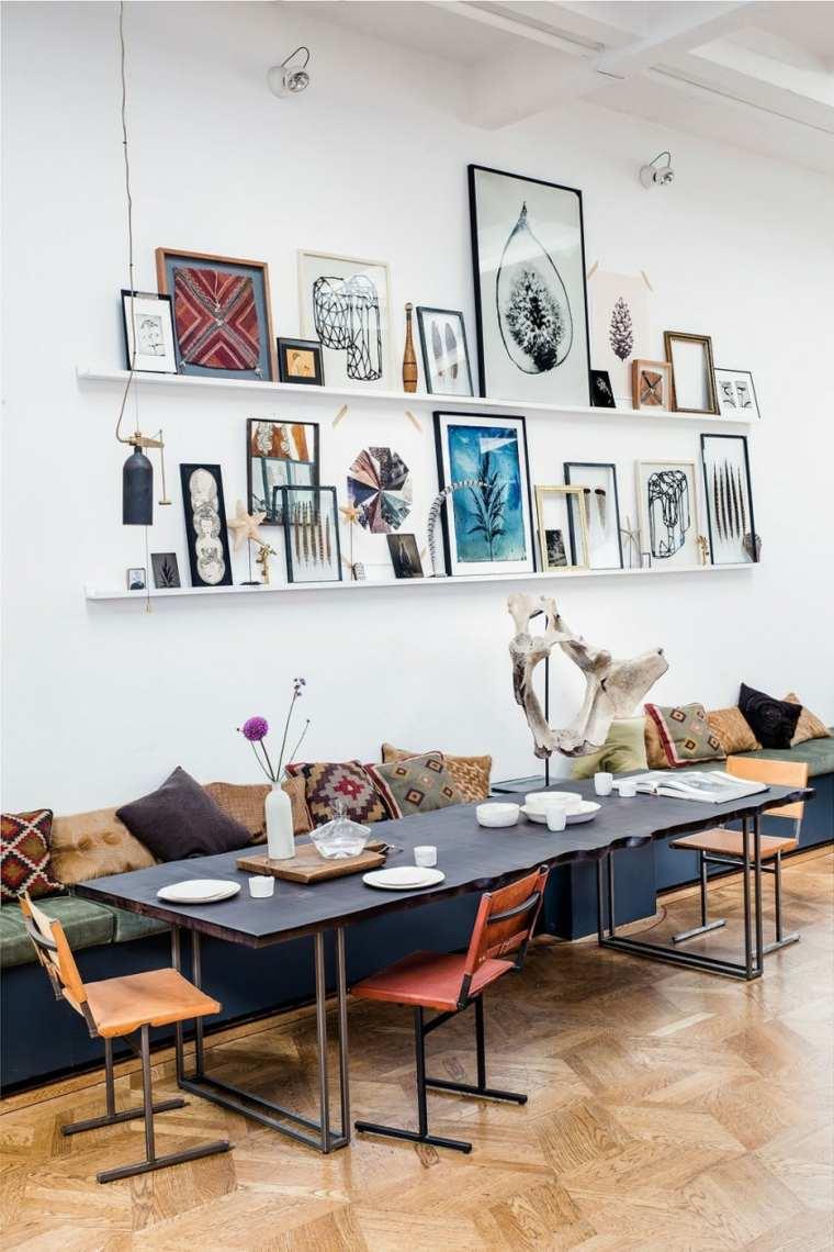 loft moderno estantes cuadro opciones ideas
