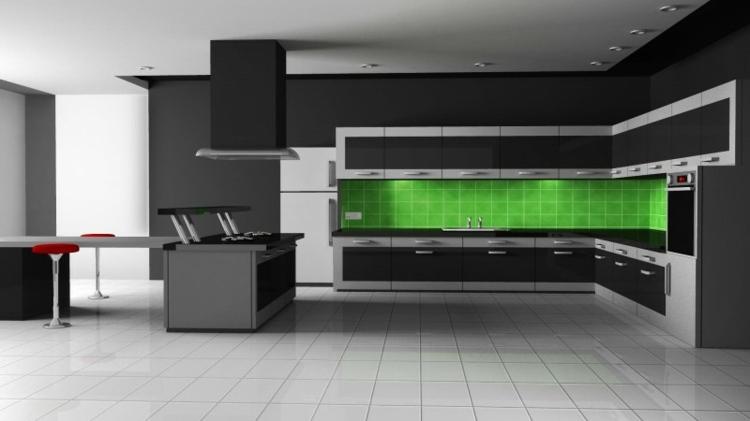 los colores cocinas diseños verdes paredes azulejos