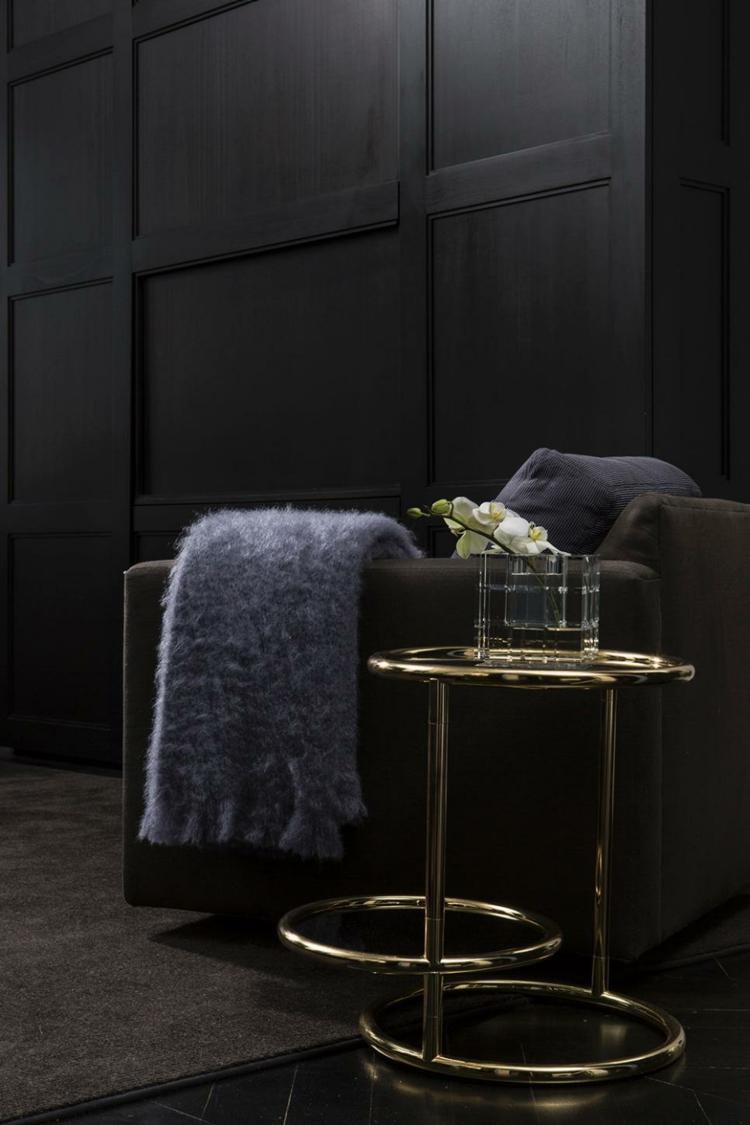 luminoso salon estilos muebles grises dorados