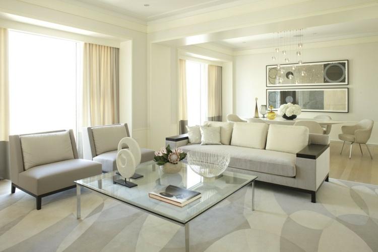 luminoso salon estilos muebles blanco