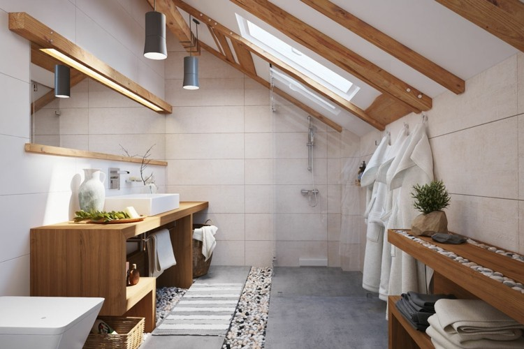 madera diseño estilos modernos blanco lamparas