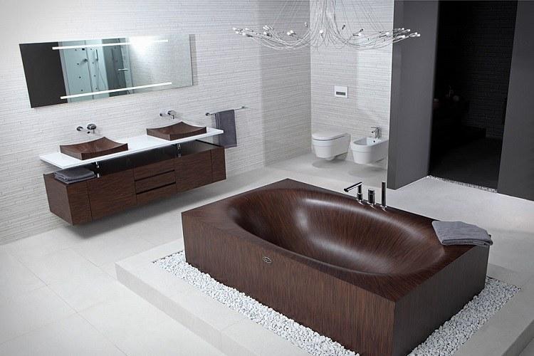 baños con bañera decorado estilos alfombras lunares