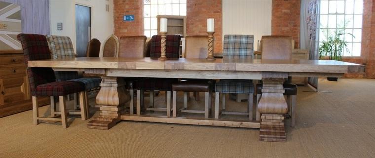Mesas de comedor modernas de madera maciza m s de 50 ideas - Mesas grandes de comedor ...