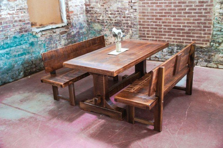 Mesas de comedor modernas de madera maciza 50 ideas for Banco para mesa de comedor