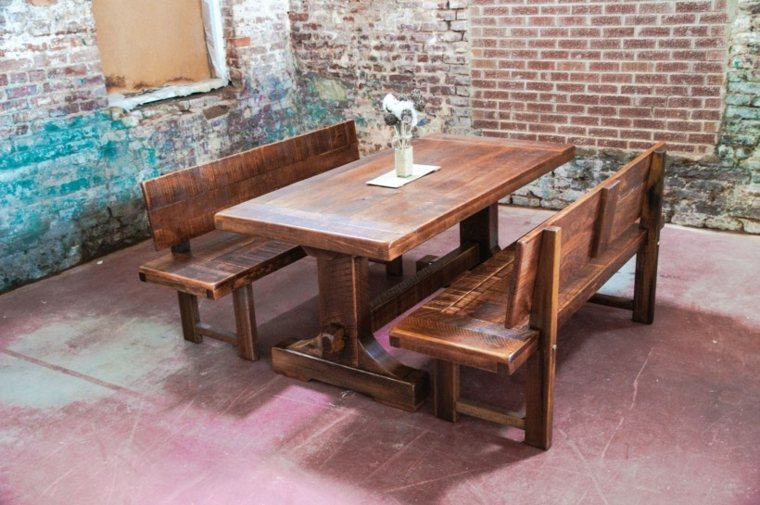 Comedor mesa banco - Bancos de madera para interior ...