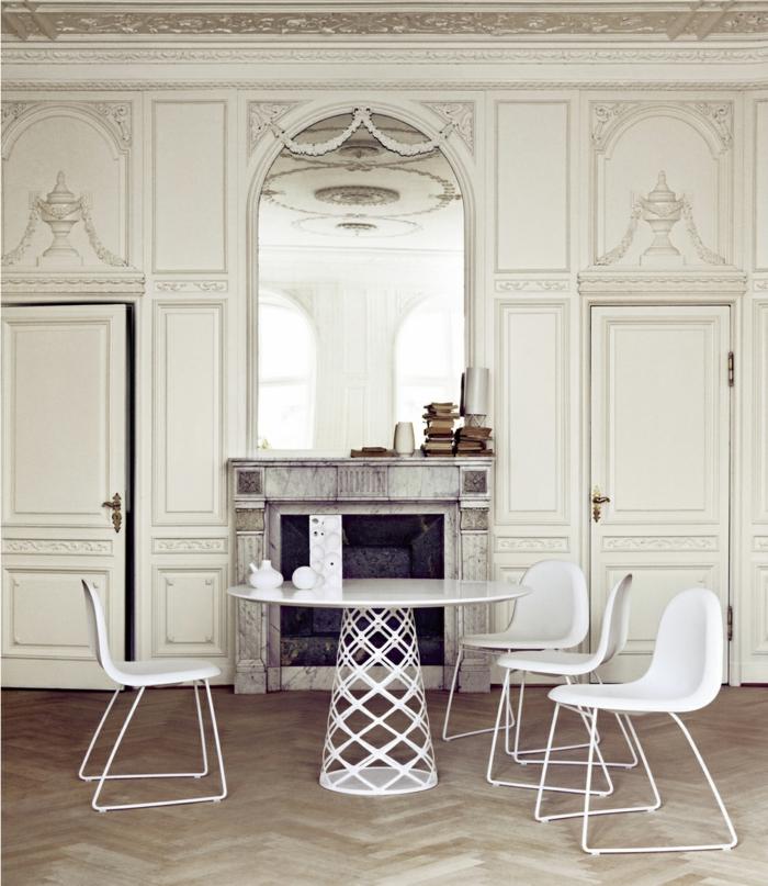 mesa blanco variantes sillones suelos blancos