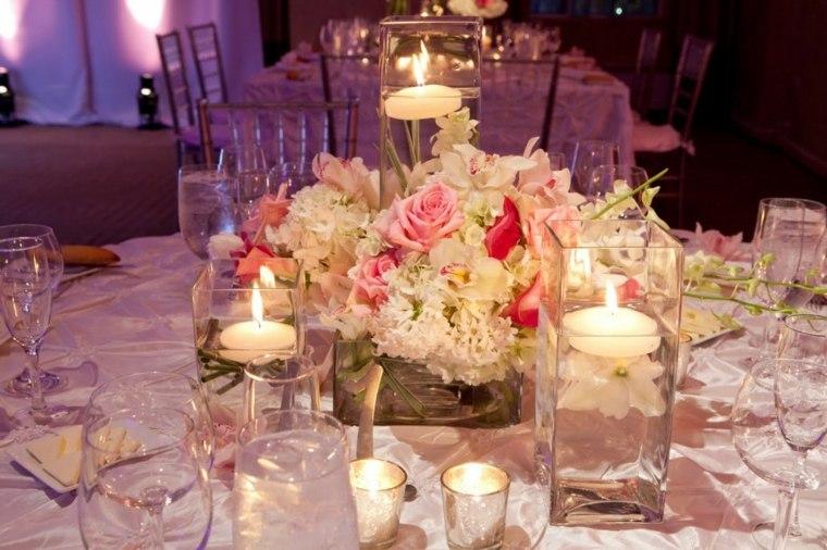 mesa boda decorada velas blancas