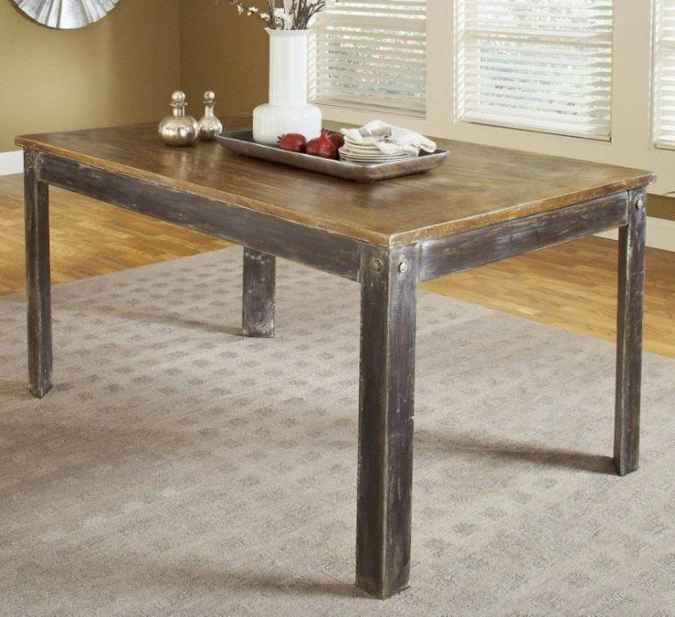 Mesas de comedor modernas de madera maciza m s de 50 ideas for Mesas de comedor cuadradas de diseno