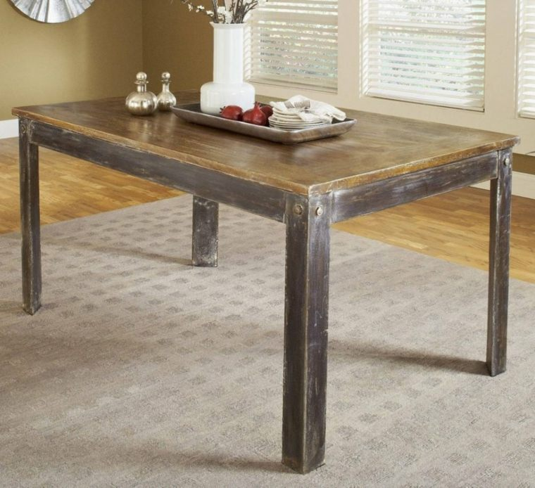 Mesas de comedor modernas de madera maciza m s de 50 ideas for Mesa de comedor elegante lamentable
