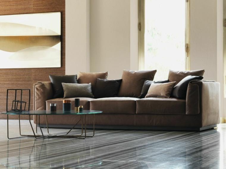 mesa crital maravillosa sofa cuero ideas