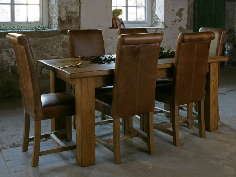 Mesas de comedor modernas de madera maciza m s de 50 ideas for Mesas de comedor cuadradas modernas