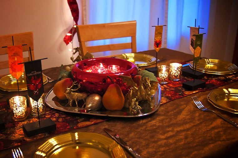 mesa decorada centros velas