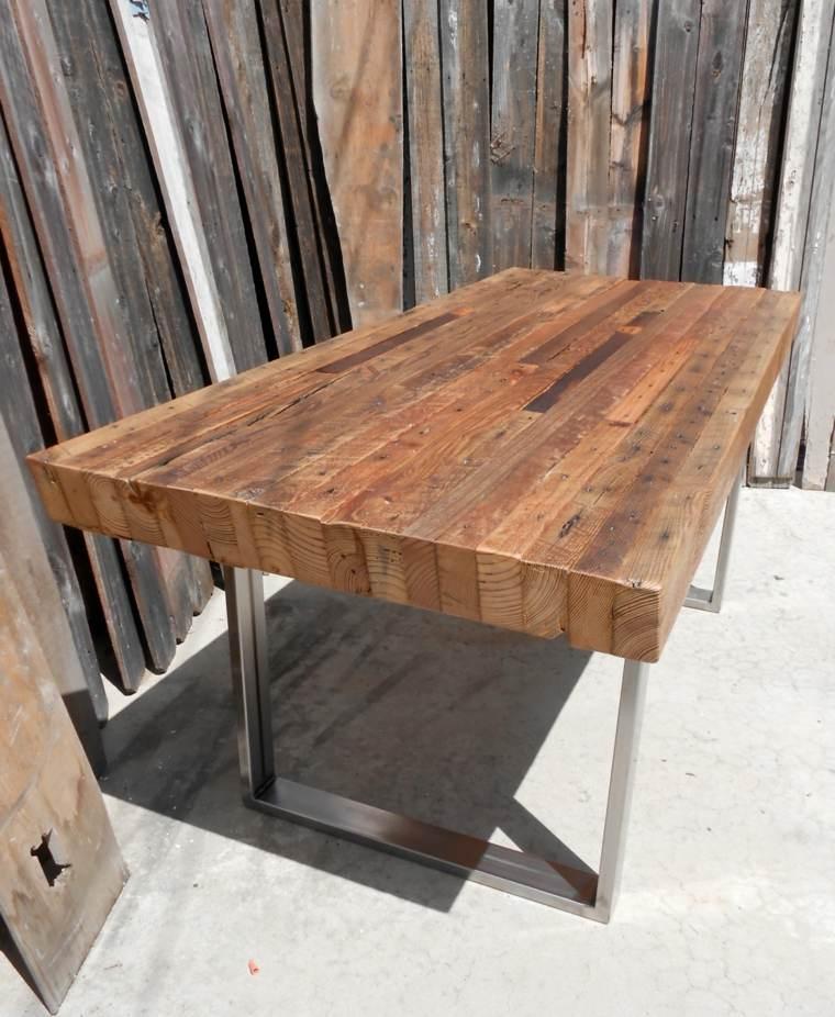 mesa diseño moderno superficie madera
