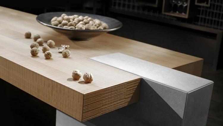 mesa gris sistema detalles nueces combinacion