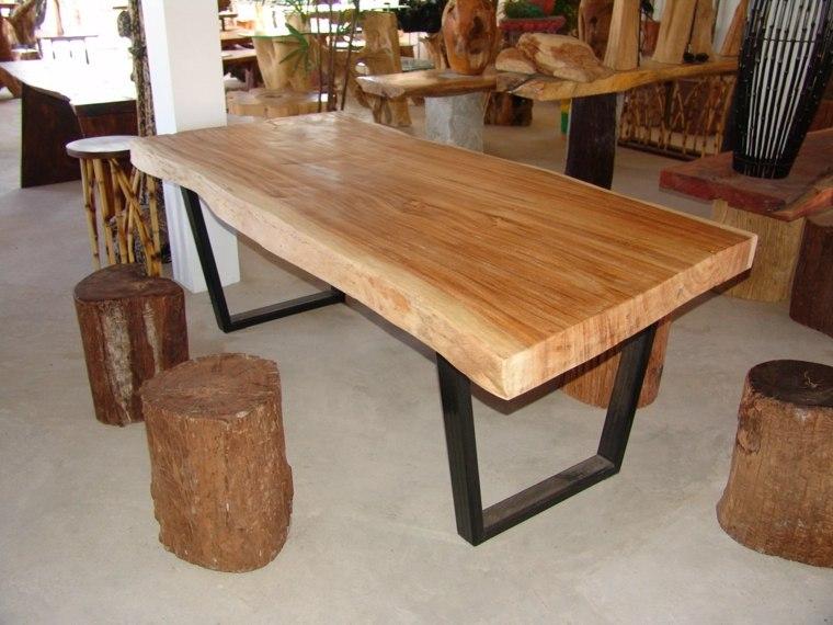 Mesas de comedor modernas de madera maciza 50 ideas for Comodas modernas para comedor