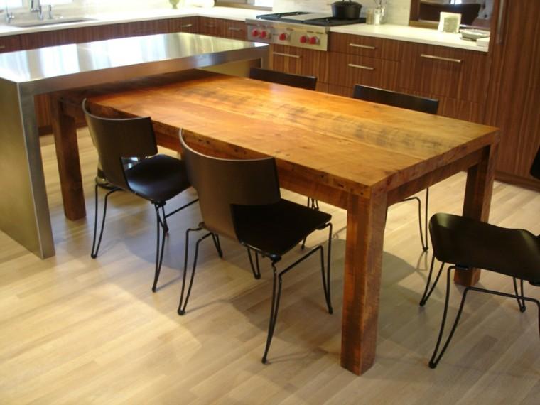 Mesas de comedor modernas de madera maciza 50 ideas for Mesa comedor madera