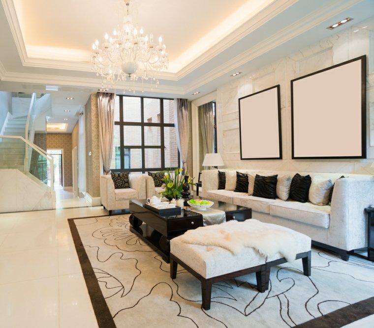 Decoracion Salon Moderno 50 Diseños En Blanco Y Madera