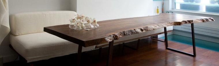 mesa moderna madera natural maciza
