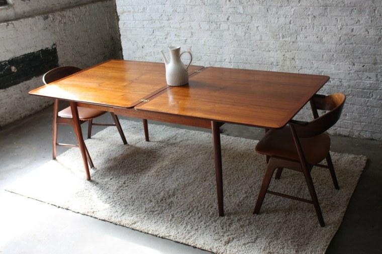 Mesas de comedor modernas de madera maciza 50 ideas - Mesas de comedor originales ...
