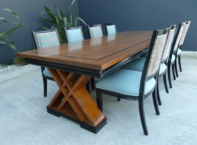 Mesas de comedor modernas de madera maciza 50 ideas for Mesas de comedor grandes de madera