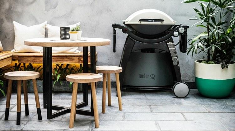 mesas madera exteriores mobiliario cocinas exteriores