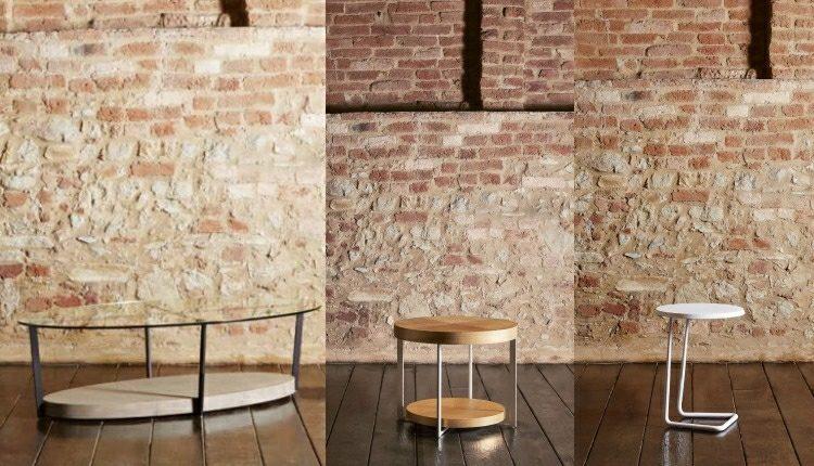 mesas pequeñas ideas diseños salones ladrillos