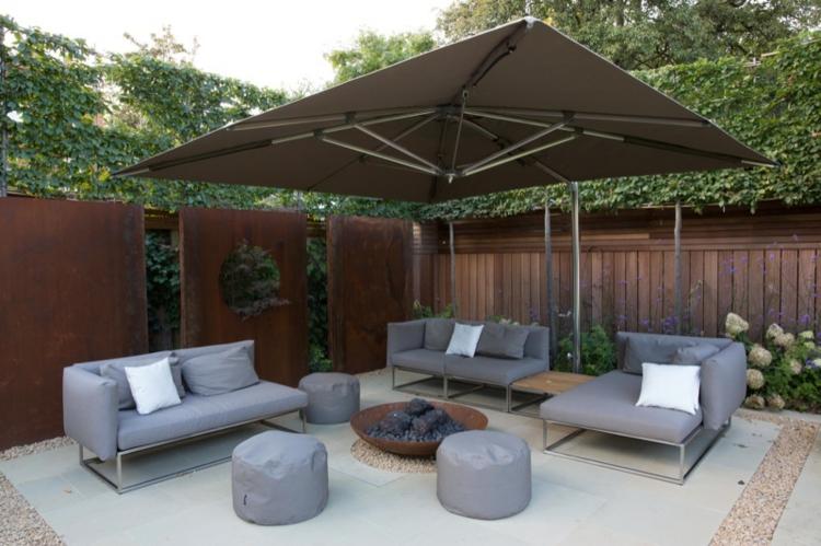 metalicos detalles modernos jardines soluciones sombrillas