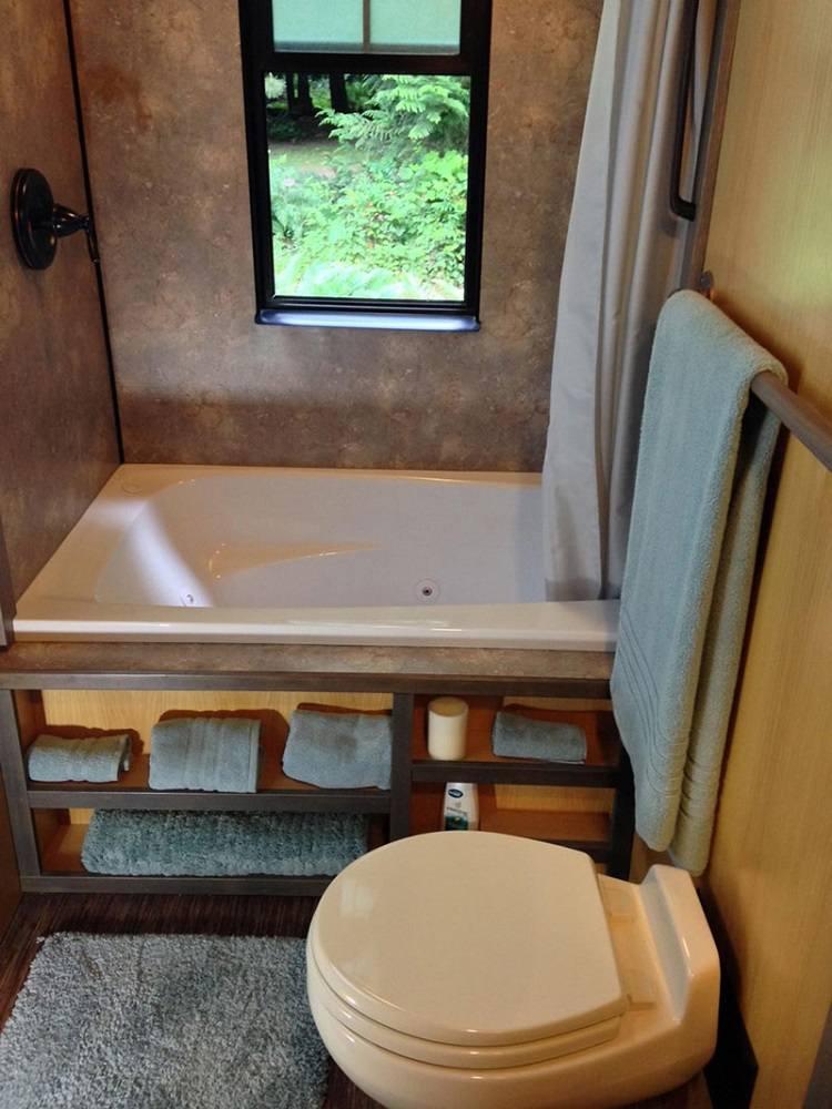 estupendo diseño de baño pequeño