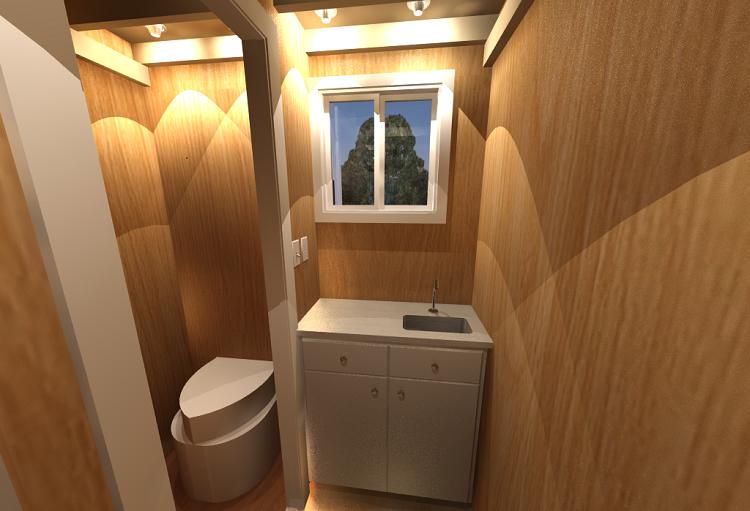 baño aseo laminado madera
