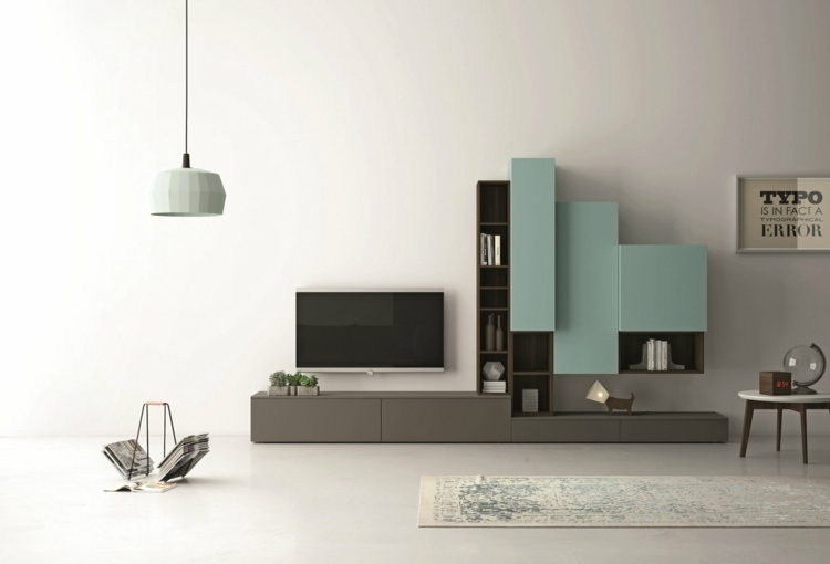 mobiliario paredes blanco paredes ideas azules