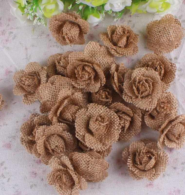 flores pequeñás tela saco