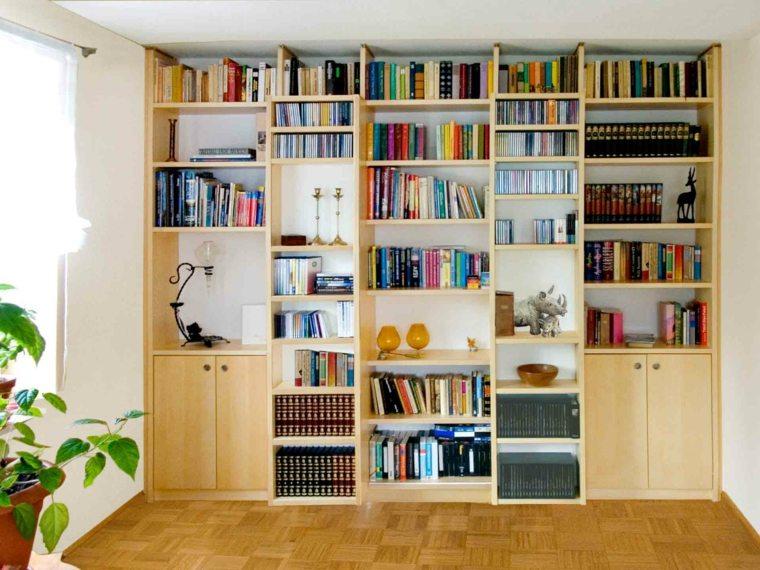 Bibliotecas grandes para salas de estar modernas - Muebles para libros ...
