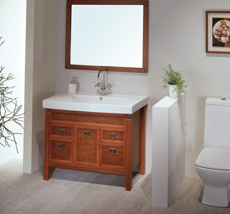 Armarios de ba o y muebles lavabo de madera 50 ideas How to make a bathroom vanity taller