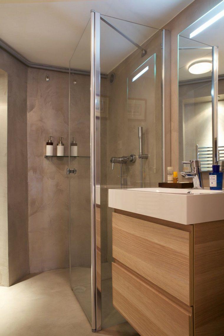 Muebles De Baño Estilo Minimalista:Armarios de baño y muebles lavabo de madera – 50 ideas -