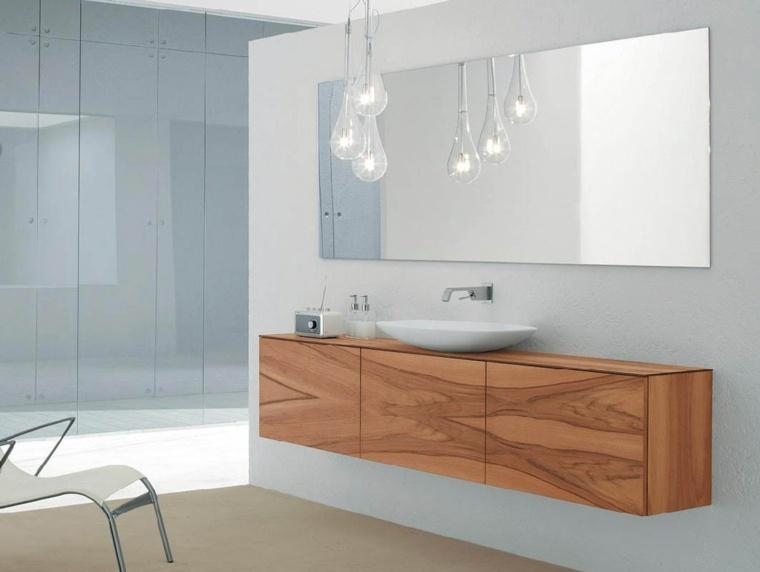mueble lavabo lamimado madera minimalista