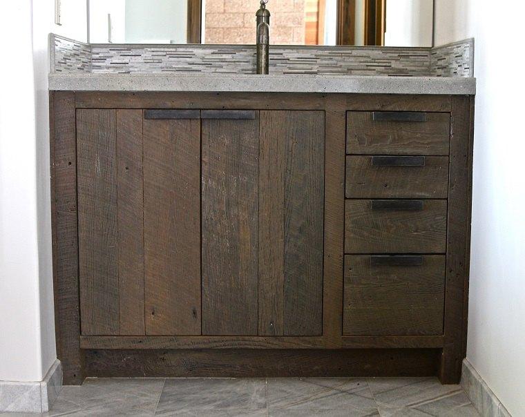 mueble lavabo integrado madera with muebles de bao de madera rusticos