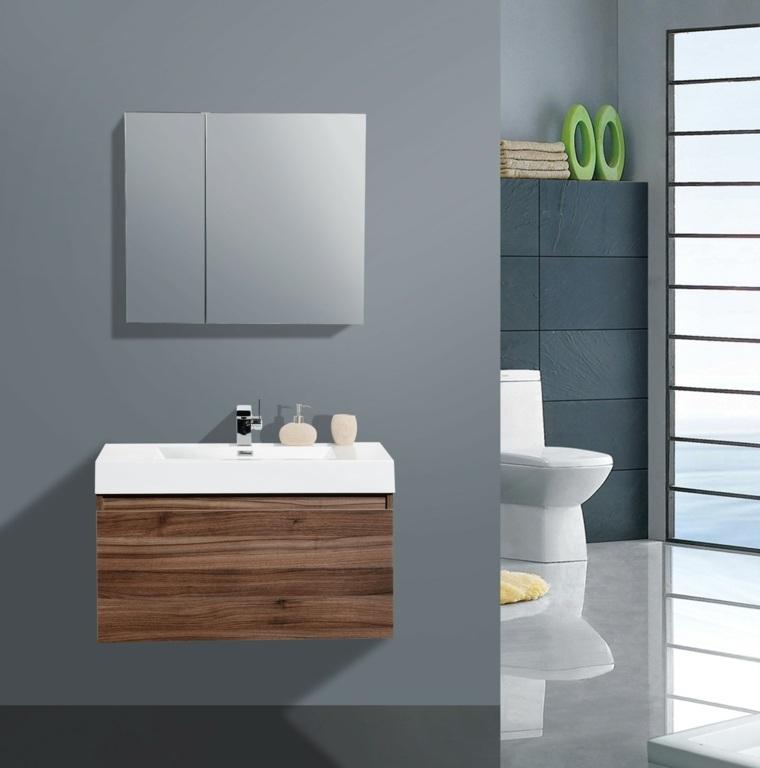 mueble lavabo original diseño madera