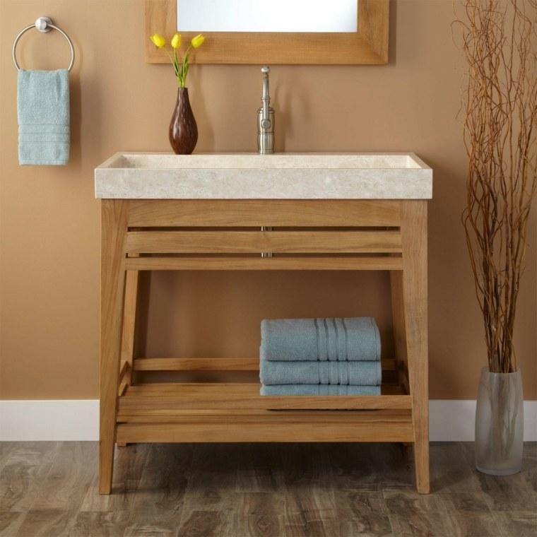 Mueble Baño Original:Armarios de baño y muebles lavabo de madera – 50 ideas -