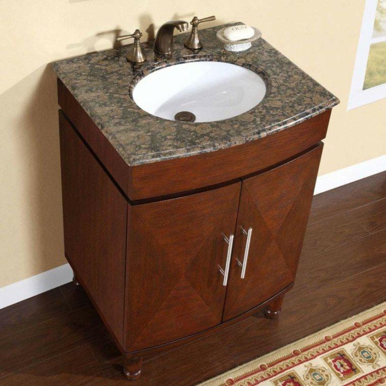 Armarios de ba o y muebles lavabo de madera 50 ideas for Diseno de muebles de madera