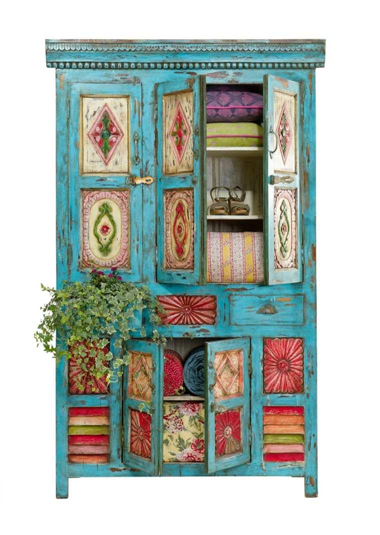 Decoracion de interiores de estilo boho chic 38 dise os - Muebles estilo vintage ...
