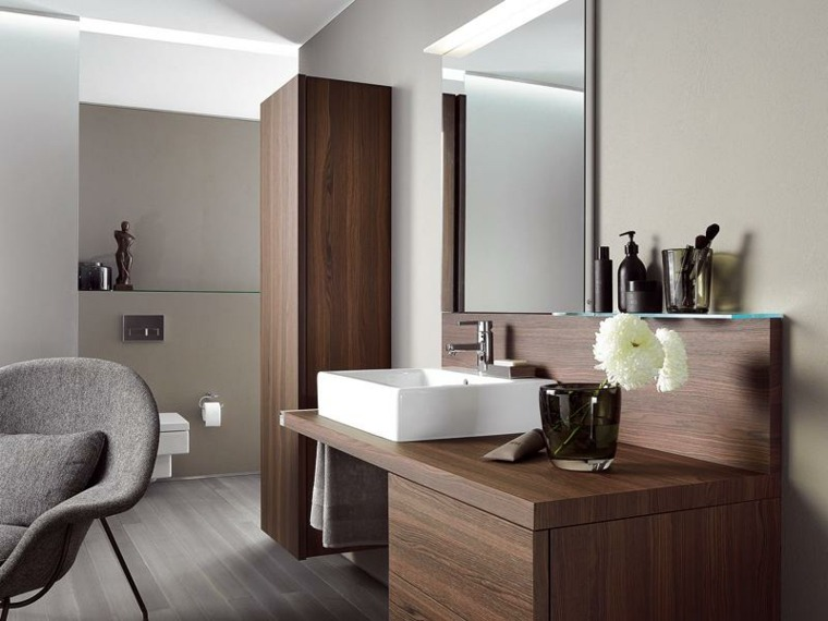 muebles baño madera diseño moderno