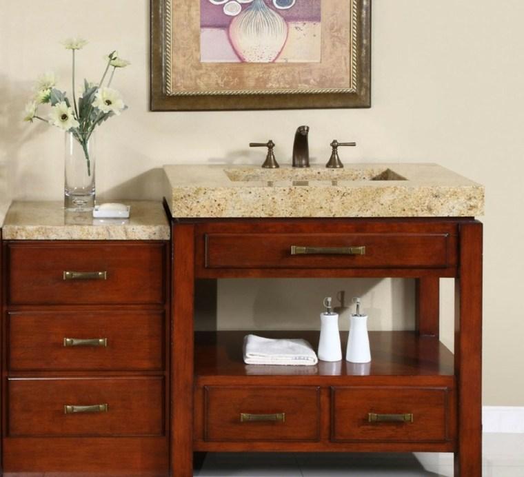 Armarios de ba o y muebles lavabo de madera 50 ideas for Gabinetes para bano en madera