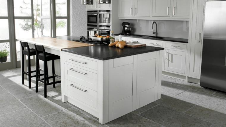 Cocinas blancas y grises los 50 dise os m s actuales - Muebles para encimeras ...